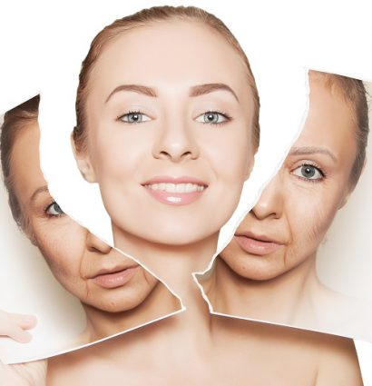 concept image showing a woman after anti aging treatment