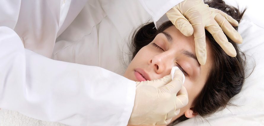 female patient receiving facial rejuvenation
