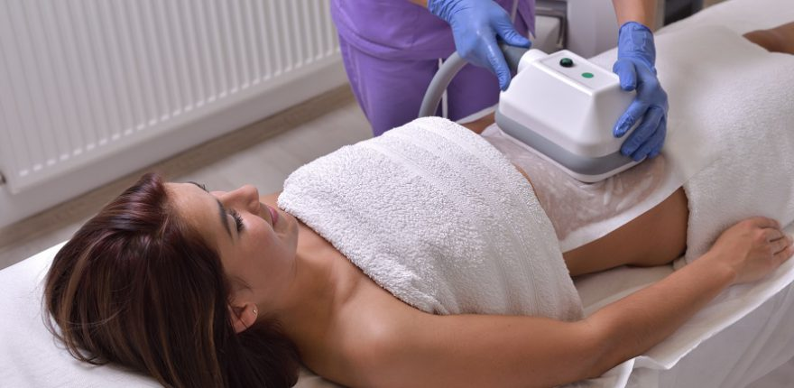 patient receiving coolsculpting treatment