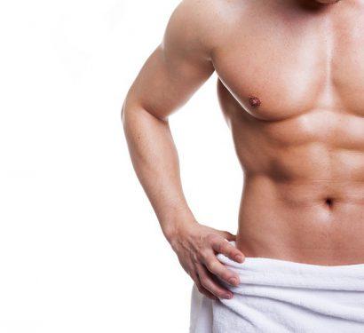male model with six pack abs