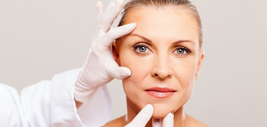 facial cosmetic surgery consult of female patient