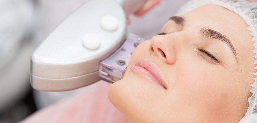 female patient receiving laser skin resurfacing