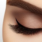 female patient with perfect eyelashes
