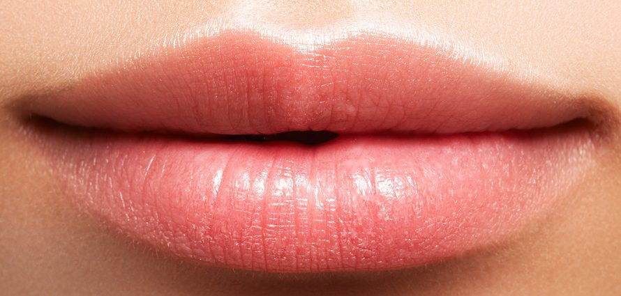 closeup of perfect female lips