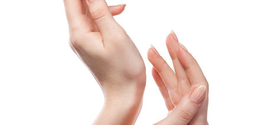 close up of model hands