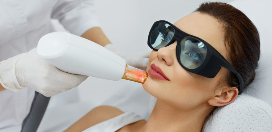 female getting skin rejuvenation treatment